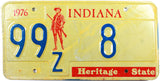 1976 Indiana License Plate Low DMV #8