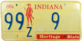 1976 Indiana License Plate Low DMV #9