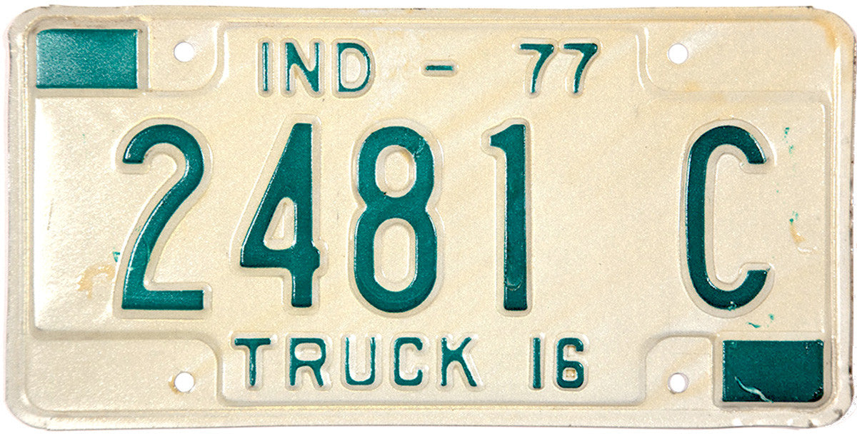 1977 Indiana Truck License Plate