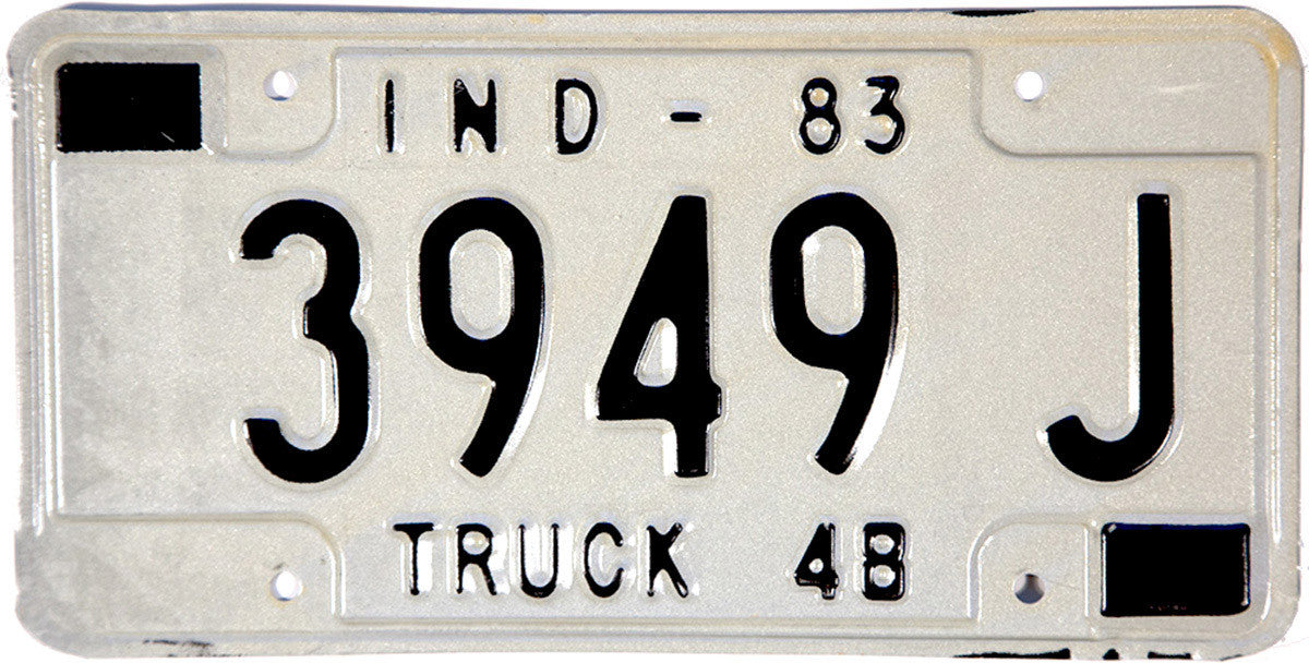 1983 Indiana Truck License Plate