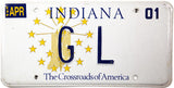 2001 Indiana DMV GL License Plate