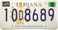 2002 Indiana License Plate