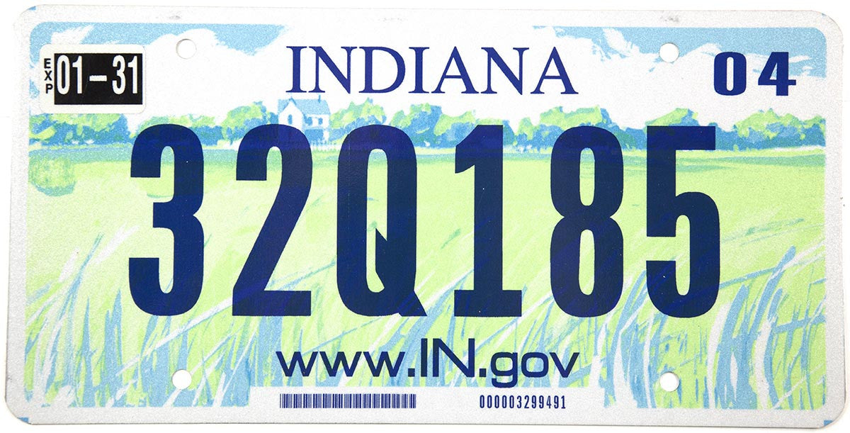 2004 Indiana License Plate