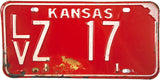 1971 Kansas License Plate in Very Good Minus condition