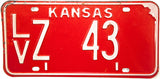 1971 Kansas License Plate in Very Good Plus condition
