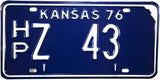 1976 Kansas License Plate in Excellent condition