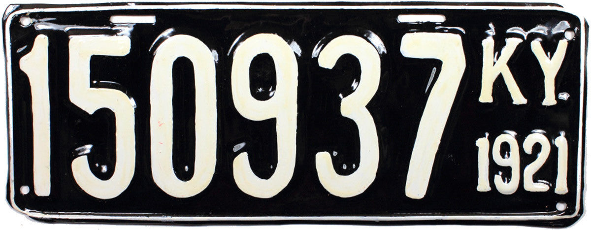 1921 Kentucky License Plate Refinished