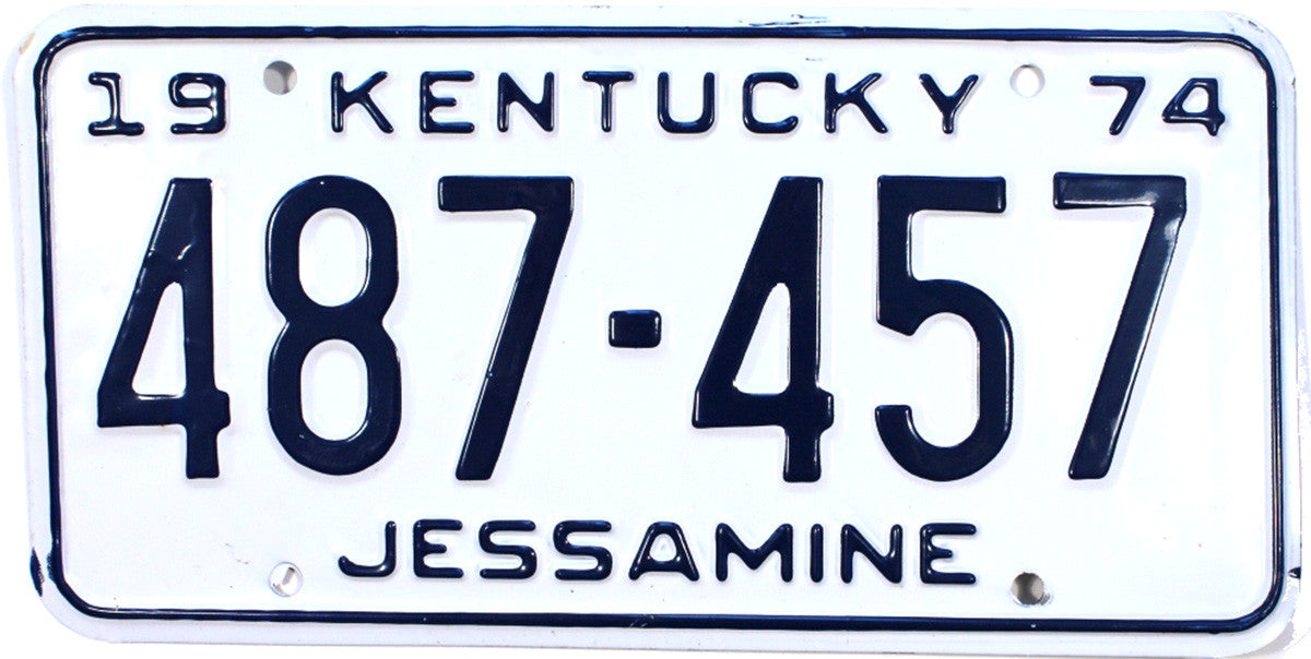 1974 Kentucky License Plate