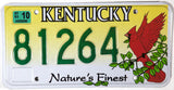 2003 Kentucky Cardinal License Plate