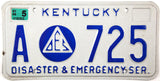 2006 Kentucky Emergency Services License Plate
