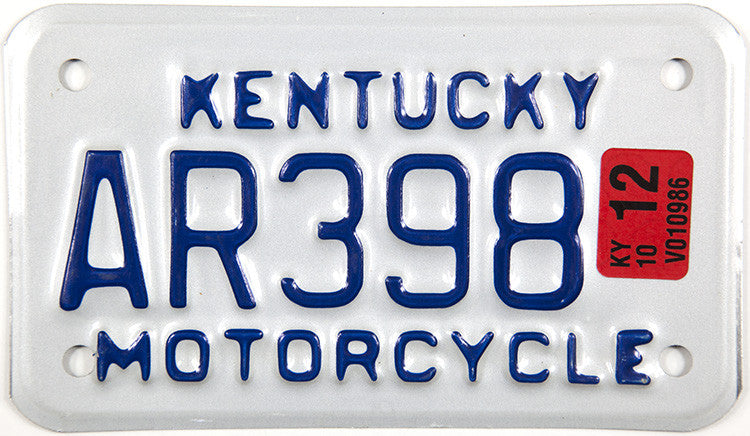 2012 Kentucky Motorcycle License Plate