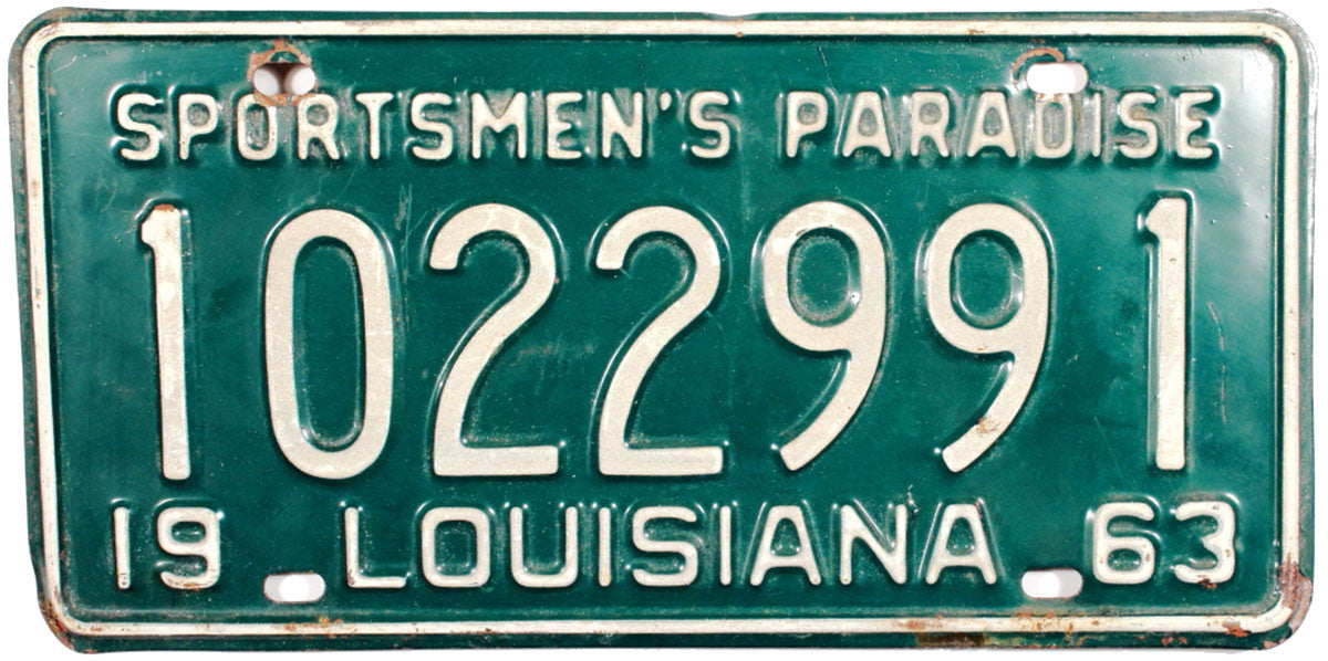 1963 Louisiana License Plate