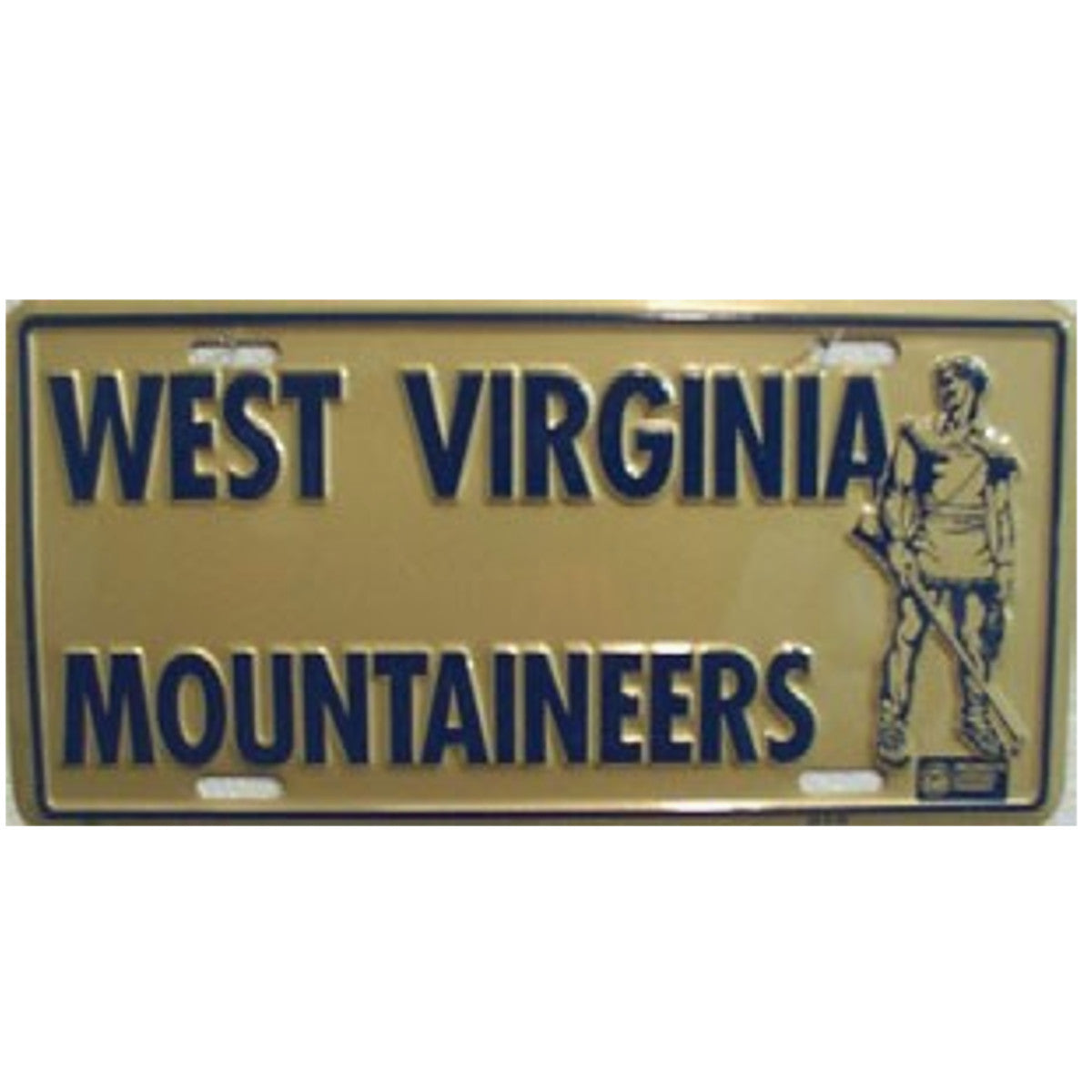 WVU Mountaineer  License Plate