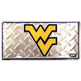 WVU Diamond Plate License Plate