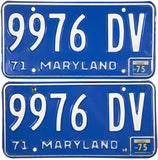 1975 Maryland Truck License Plates