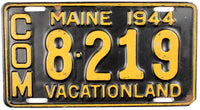 1944 Maine Truck License Plate
