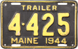 1944 Maine Trailer License Plate