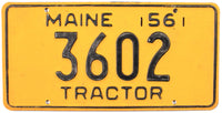 1956 Maine Tractor License Plate