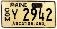 1967 Maine Truck License Plate