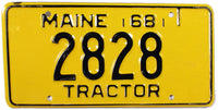 1968 Maine Tractor License Plate