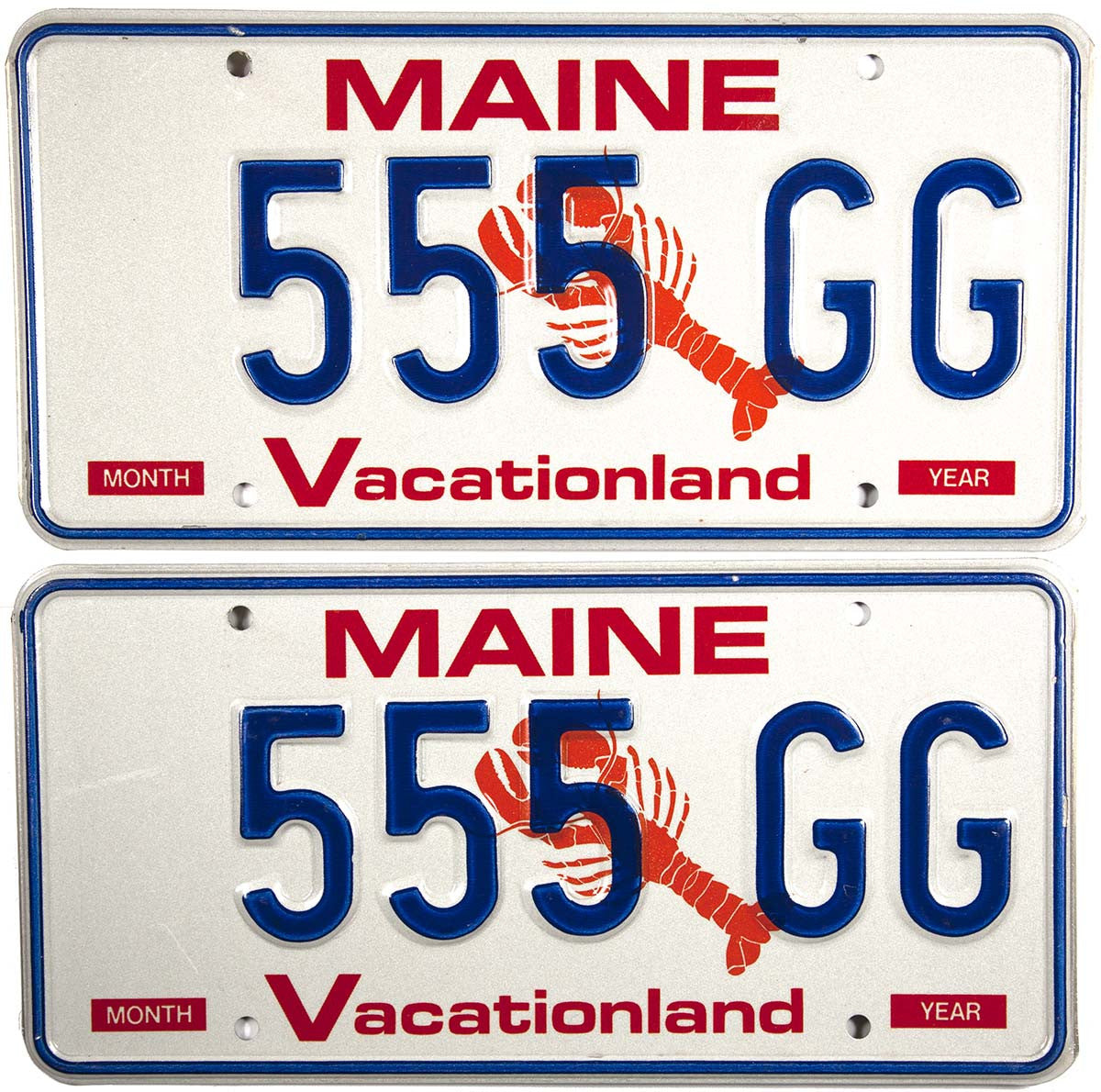 1991 Maine Lobster License Plates