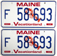 1995 Maine Farm License Plates