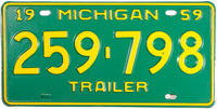 1959 Michigan Trailer License Plate