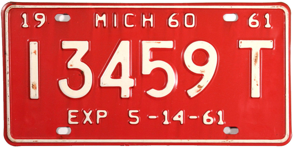 DMV 1960 - 61 Michigan Trailer License Plate