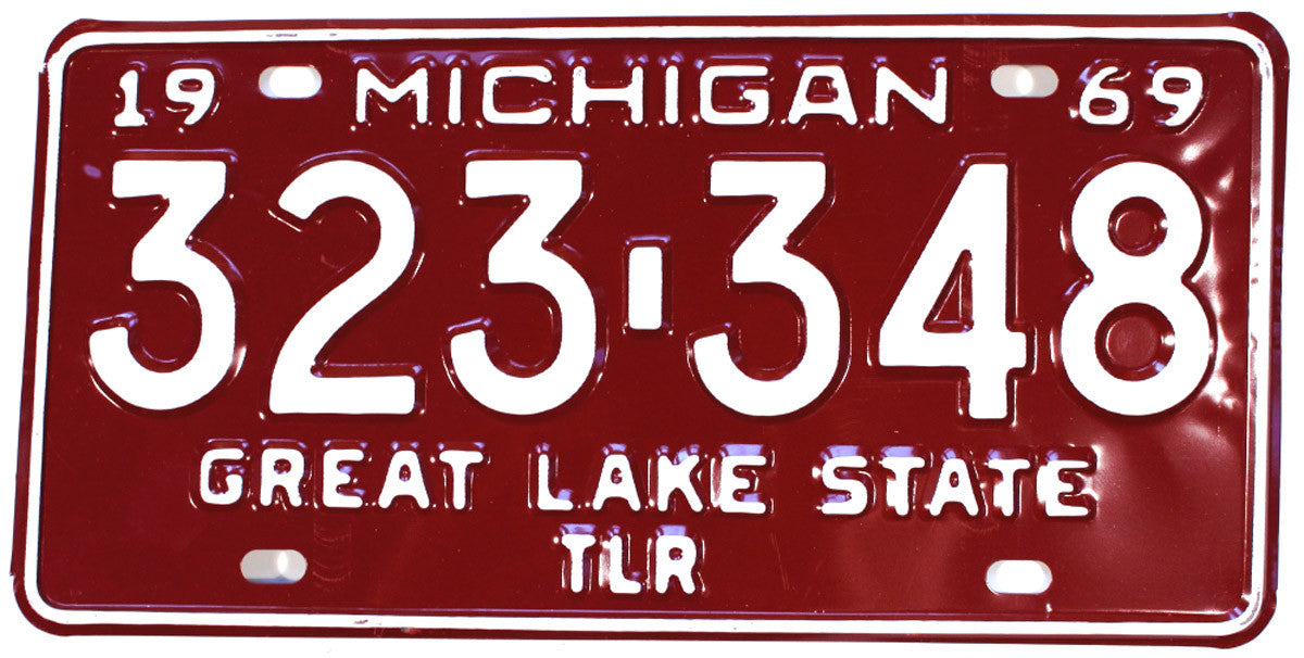 1969 Michigan Trailer License Plate