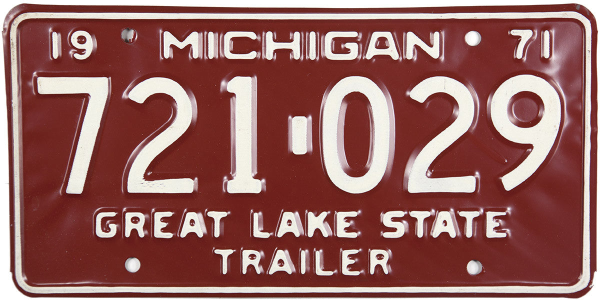 1971 Michigan Trailer License Plate