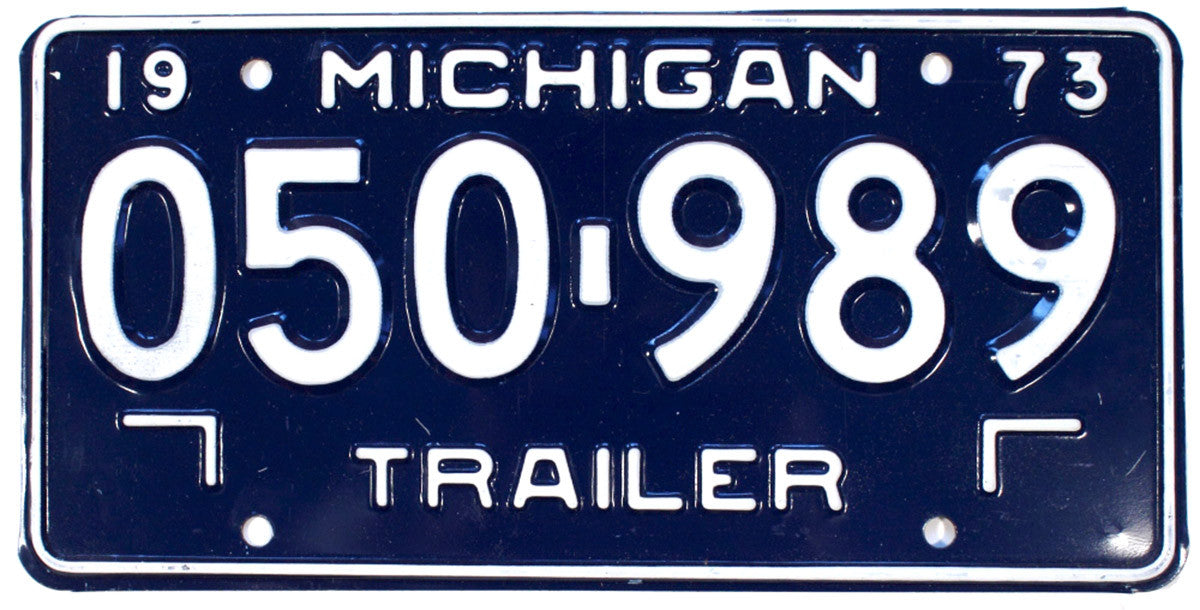 1973 Michigan Trailer License Plate