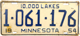 1954 Minnesota License Plate