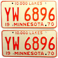 1970 Minnesota Truck License Plates