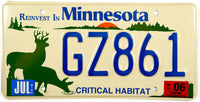 2006 Minnesota Deer License Plates