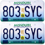 2005 Missouri License Plates