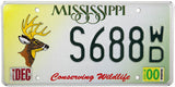 2000 Mississippi Wildlife Deer License Plate