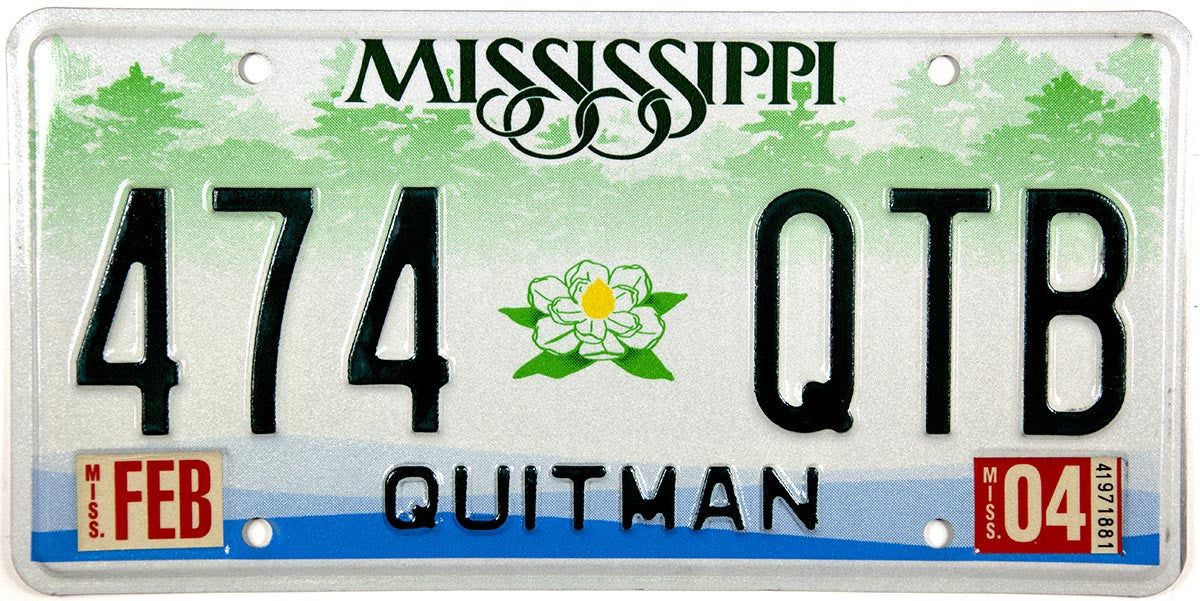 2004 Mississippi License Plate