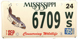 2005 Mississippi Trout License Plate