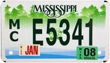 2008 Mississippi Motorcycle License Plate