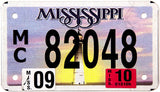 2010 Mississippi Motorcycle License Plate