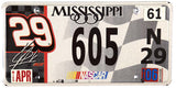2006 Mississippi Kevin Harvick Nascar License Plate