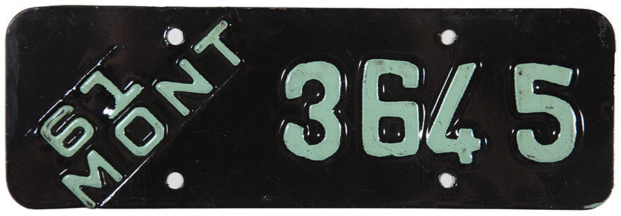 1961 Montana Motorcycle License Plate