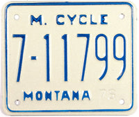 1976 Montana Motorcycle License Plate