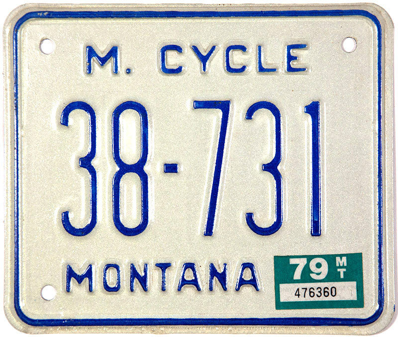1979 Montana Motorcycle License Plate
