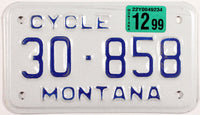 1999 Montana Motorcycle License Plate