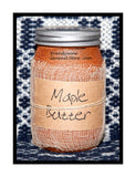 Maple Butter primitive pint candle jar by Black Crow