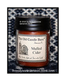 Mulled Cider scented primitive half pint candle jar made by The Old Candle Barn