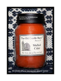 Mulled Cider scented primitive pint candle jar made by The Old Candle Barn