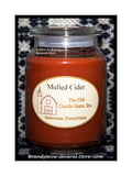 Mulled Cider scented large Terrace candle jar made by The Old Candle Barn