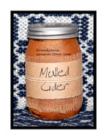 Mulled Cider Primitive pint candle jar by Black Crow